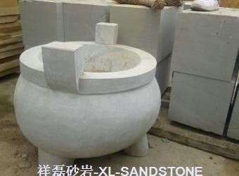 灰白砂圆雕